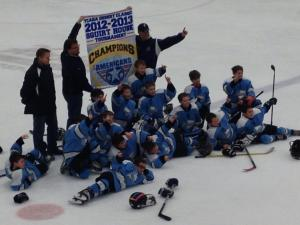 Sean with his team last year after winning their tournament.